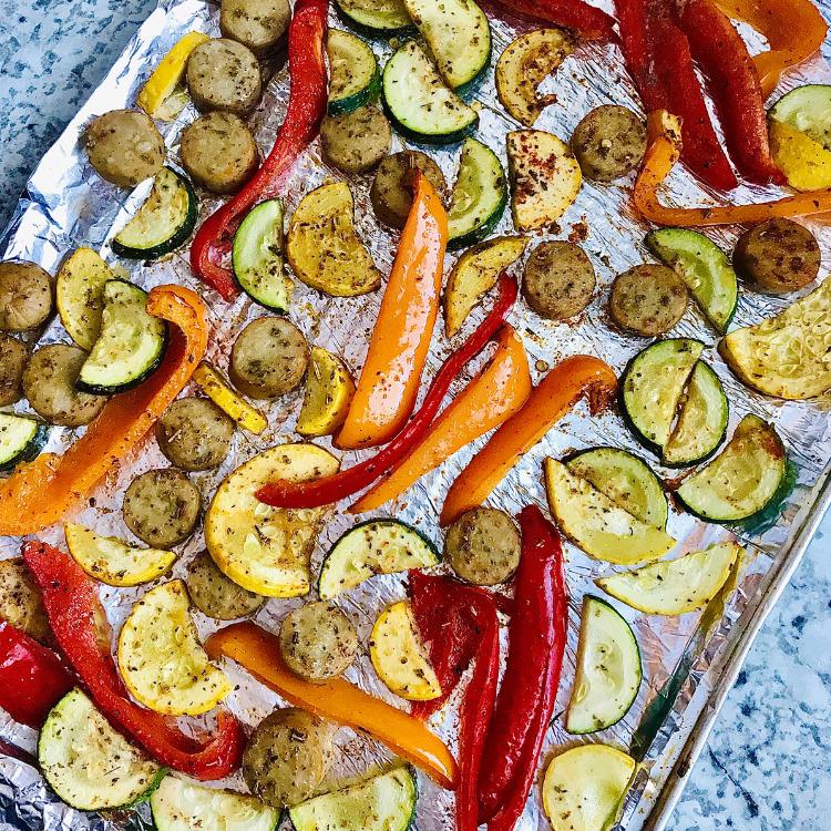 Sausage and veggies sheet pan recipe